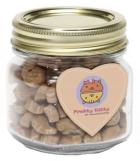 custom cat treat jar with custom branded magnet