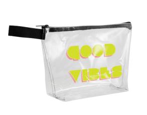 Custom clear vinyl tsa branded zipper bag