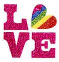 Love temporary tattoo custom pride glitter rainbow