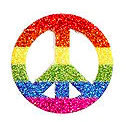 Peace temporary tattoo gay pride rainbow custom